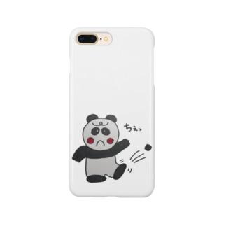 パンダちゃん、石にあたる Smartphone cases