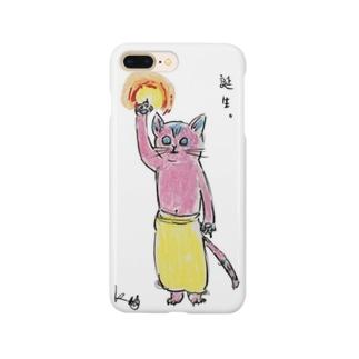 釈迦誕生ポーズのピンクのケダさん Smartphone cases