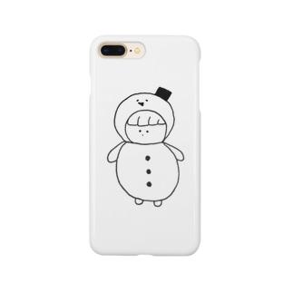 雪だるまのゆきこ Smartphone cases
