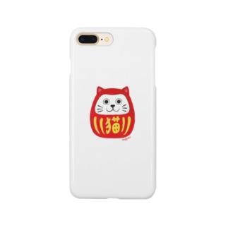 ねこ達磨 Smartphone cases