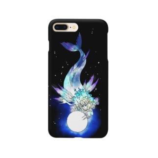 月と人魚 Smartphone cases
