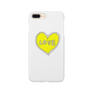 きいろいハートiPhone Smartphone cases