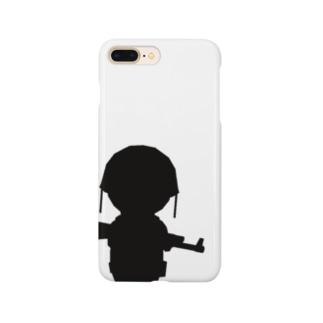 ミルクチョコ キャラクターシルエット(アサルト) Smartphone cases
