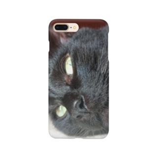黒猫こばんのおこ顔 Smartphone cases