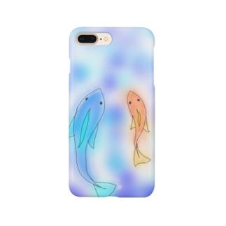 金魚はゆらゆら Smartphone cases