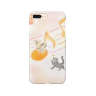 猫と音楽 Smartphone cases