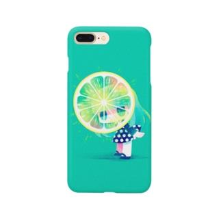 キラキラレモン Smartphone cases