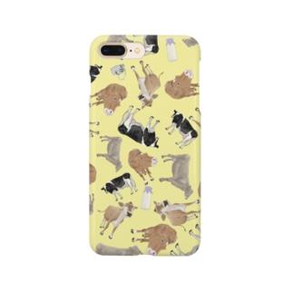 乳牛いっぱい🐄きいろ Smartphone cases