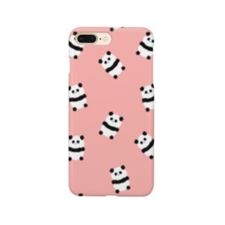 たくさんパンダ(ピンク) Smartphone cases
