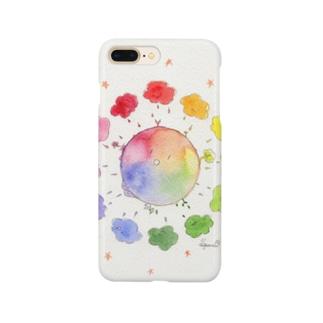 もこもこ色相環 Smartphone cases