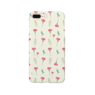ポピー柄(黄色) Smartphone cases