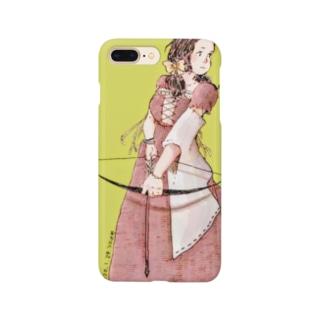 弓を射る少女 Smartphone cases
