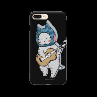 ほっかむねこ屋のギターねこ Smartphone cases