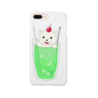 クリームソーダベア Smartphone cases