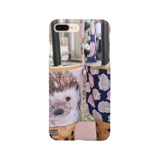 ハリネズミとタピオカ Smartphone cases