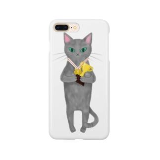 軽率に優勝する猫 Smartphone cases