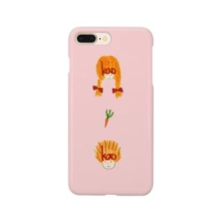 桜color ガールとボーイとにんじんiPhoneケース Smartphone cases