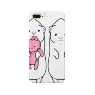 つままれフェレット(白) Smartphone cases