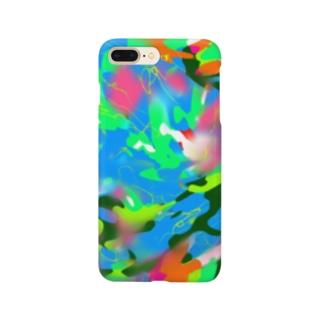 ウズカモ/ブルー Smartphone cases