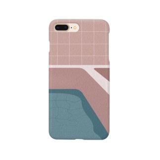 実家のお風呂すまほけーす利き目は右目ぜんめん Smartphone cases