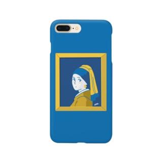 フェルメール(額あり) Smartphone cases