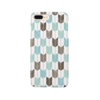 skysodaのチョコミント矢絣 Smartphone Case