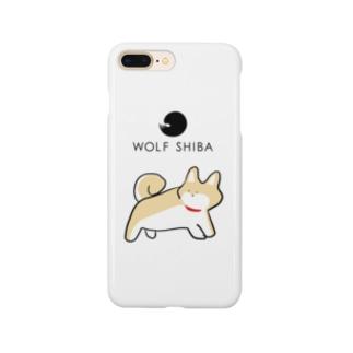 柴犬「ふりむきーぬ」赤柴 Smartphone cases