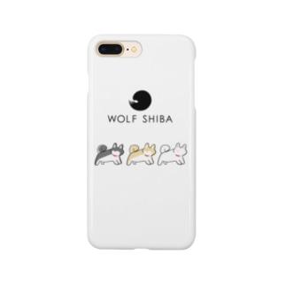 柴犬「ふりむきーぬ」3柴 Smartphone cases