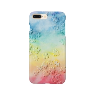アトリエいろりの油絵「かける」 Smartphone cases