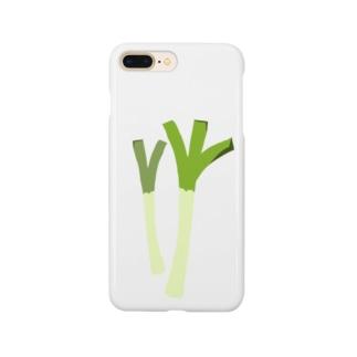 ねぎ・長ネギイラストグッズ【果物・お野菜シリーズ】 Smartphone cases