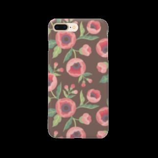 d*ropsのpink flower Smartphone cases