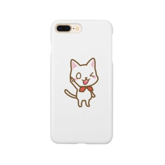 白ねこ公式キャラクター Smartphone cases