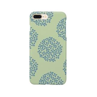 北欧 花柄 アジサイ 2 グリーン #210 Smartphone Case