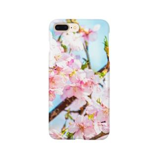 sakura×skyblue Smartphone cases