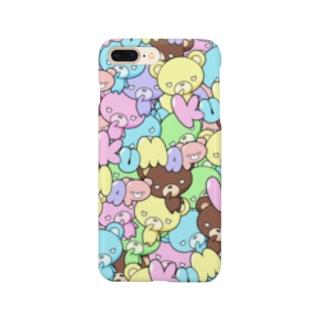 カラフルくまっぷ-スマホケース Smartphone cases