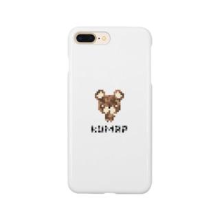 ドットくまっぷ-スマホケース Smartphone cases