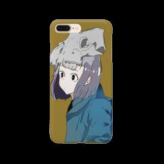 いくら丼の骨と女の子 Smartphone cases