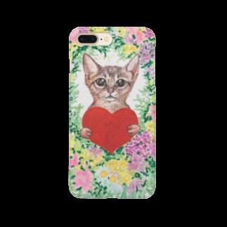 saiko-ruiのリース猫 Smartphone cases