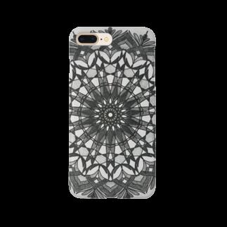 saiko-ruiのマンダラBLACK Smartphone cases