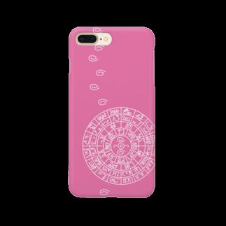 マグネシウム SUZURI店の龍体文字フトマニ図(ピンク) Smartphone cases