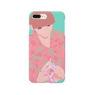 柄シャツ Smartphone cases