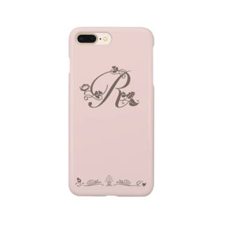 sonoteniのアルファベット イニシャル ボタニカル ピンク R #146 Smartphone cases