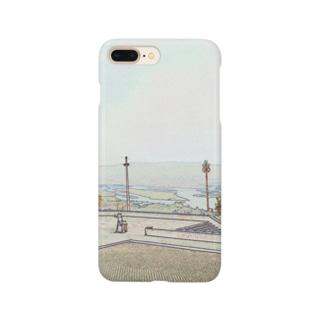 CG絵画:ヴィアナ・ド・カステロの風景画 CG art: Rio Lima / Viana do Castelo Smartphone cases