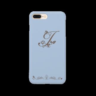 sonoteniのアルファベット イニシャル ボタニカル ブルー I #162  Smartphone cases