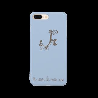 sonoteniのアルファベット イニシャル ボタニカル ブルー S #172 Smartphone cases
