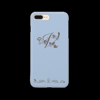 sonoteniのアルファベット イニシャル ボタニカル ブルー V #175 Smartphone cases