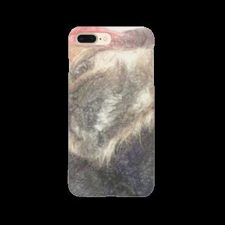 Lost'knotのペキニーズ犬ソノ名ワ「たぬき」 Smartphone cases