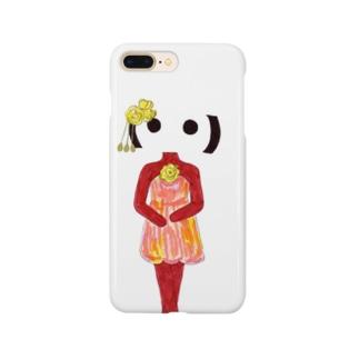 顔文字姫_バラのミニドレス Smartphone cases