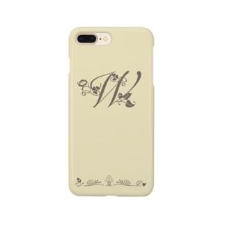 アルファベット イニシャル ボタニカル クリーム W #202 Smartphone Case