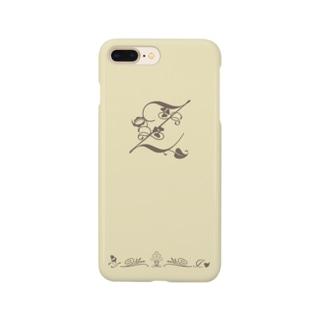 アルファベット イニシャル ボタニカル クリーム Z #205 Smartphone cases